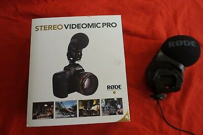 Rode professional stereo videomic pro microphone in box excellent condition