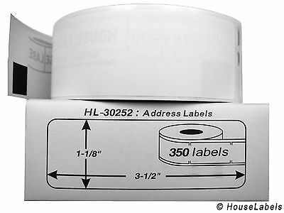 1 Roll of 350 Address Labels in Mini-Cartons For DYMO® LabelWriters® 30252