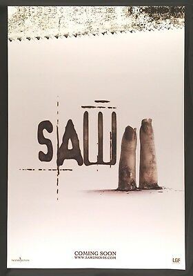 "Saw Ii (2005) Original Advance Teaser Rolled Movie Poster 2-Sided 27"" X 40"""