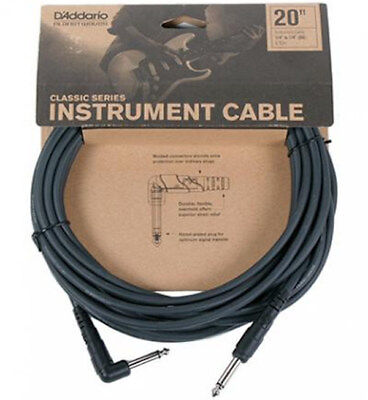 Planet Waves Pw-Cgtra-20, 20' Classic Series Instrument Cable, 1 Right Angle