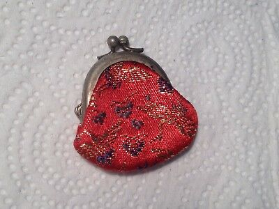 Vintage Miniature RED Good Luck Purse