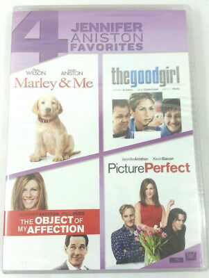 4 Jennifer Aniston favorites DVD Marley & Me The Good Girl Picture Perfect