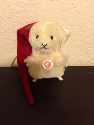 2011 STEIFF Mohair Mouse Christmas Ornament LIMITED EDITION