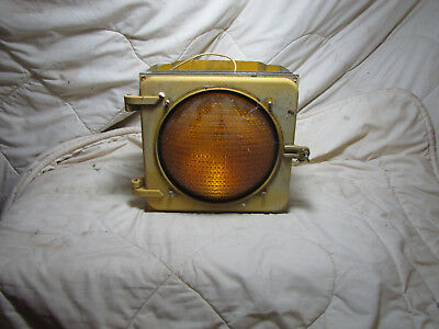 Vintage Eagle Signal Yellow Traffic Light Assembly Stop Yield Sign