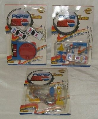1996 Pepsi Team Golden Wheels 3 Diecast Car Sets New