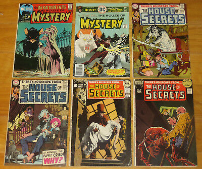 1969-80 DC Horror 12 Books HOUSE OF MYSTERY, HOUSE OF SECRETS, HAUNTED HOUSE NR