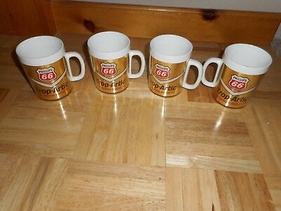 Vintage LOT OF 4 Phillips 66 Gas Station TROP ARTIC THERMO-SERV Advertising MUGS
