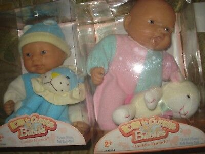 "Lot of 2 (TWO) Adorable DOLLS 7.5"" Berenguer Berjusa Lots to Cuddle Babies 1-NIB"
