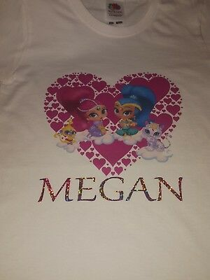 shimmer and shine personal t.shirt just add your name