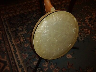 Rare 1930's Celluloid 4-String Tenor Banjo Grover Presto w/Resonator Excellent
