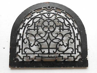 Antique Cast Iron Arch Top Dome Wall Register Old Vintage