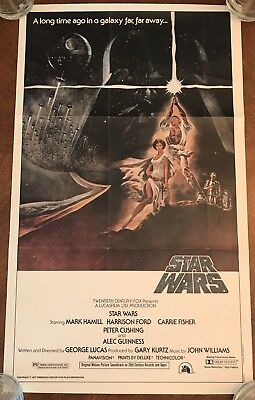 STAR WARS *1981 TOPPS MOVIE Giant Pinup POSTER