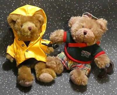 The Teddy Bear Collection Pair Of Soft Toy Bears Golfer / Fisherman
