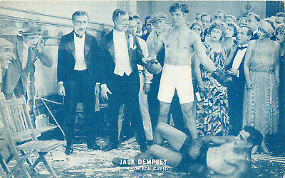 "Boxing, Jack Dempsey In Movie ""k.o. For Cupid"", Vintage Postcard"