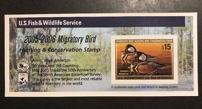 TDStamps: US Federal Duck Stamp Scott#RW72A $15.00 Mint NH Self-Adhesive