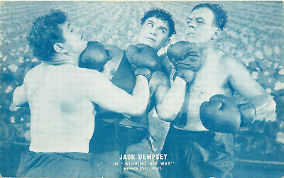 "Boxing, Jack Dempsey In Movie ""winning His Way"", Vintage Postcard"