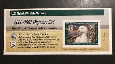 TDStamps: US Federal Duck Stamp Scott#RW73A $15.00 Mint NH Self-Adhesive