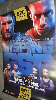 Ufc 217 27x39 POSTER GSP BISPING FULL SIZE