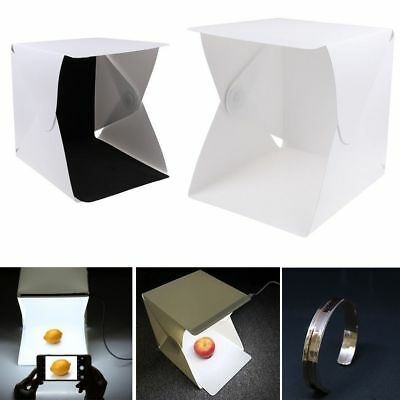 LED Light Room Mini Photo Studio Photography Lighting Tent Kit Backdrop Box CA