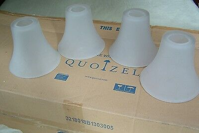 "Quoizel DH1404PN Duchess 4 Glass Marble Bell Shades 5"" High,  Brand NEW, Rare"