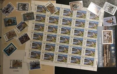 TDStamps: Interesting Mint NH US Federal & State Duck Stamps & Sheet