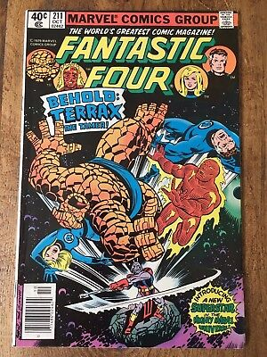 Marvel Fantastic Four # 211 First Appearance Of Terrax Vf+ Bronze Age Comic 1979