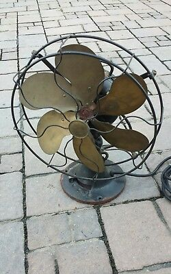 ANTIQUE VINTAGE 1920's EMERSON ELECTRIC OSCILLATOR FAN 3-SPEED  TYPE 71666
