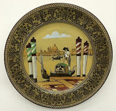 Royal Doulton Collector Plate Venetian Gondola Scene - Antique
