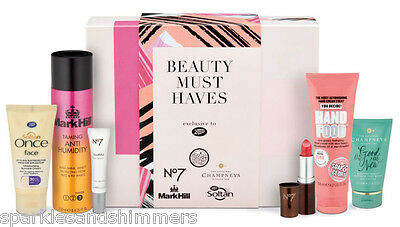 Boots MUST HAVES BEAUTY BOX Gift Set 6 Skincare Items Soap & Glory/Champneys/No7