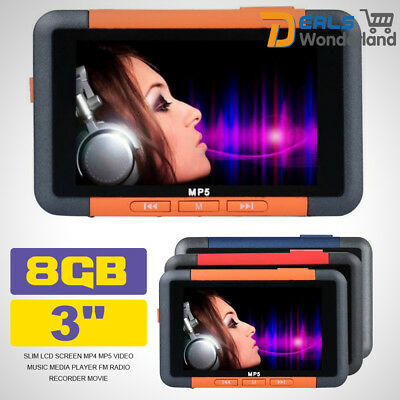 "8GB 4.3"" Slim LCD Screen MP4/5 Video Music Media Player FM Radio Recorder Movie"