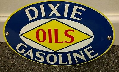 Dixie Oils Oil Gas Oval sign ... Gasoline