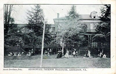 ~1906 ABINGDON VA - Stonewall Jackson Institute + Students & Women Posing