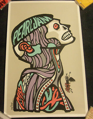 Pearl Jam 2010 Indianapolis Poster Ames Bros Signed Near Mint