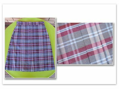 Bnwt Size 14 Girls Winter School Skirt - Grey Light Blue Tartan