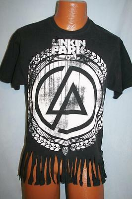 LINKIN PARK 2008 Concert Tour DISTRESSED Black T-SHIRT Medium CHICAGO ROCK