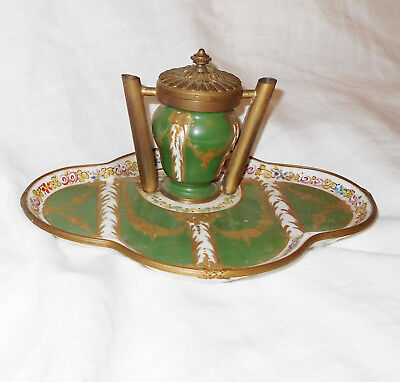 Fine~~ 19thC FRENCH SEVRES INKWELL marked