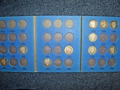 Vintage Barber Silver Half-Dollar Collection Lot Of Ten Different Coins In Book