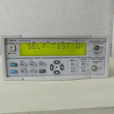 Used Agilent 53151A - CW Microwave Frequency Counter, 26.5GHz