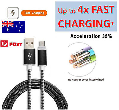 Micro USB Charger Cable 1M Charge Data Sync Braided For Mobile Phone Galaxy S5 6