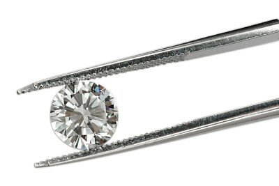 CERTIFIED 6.5mm = 1.05 Ct Round Cut EHM Cultured Solitaire F VVS1 Solitaire