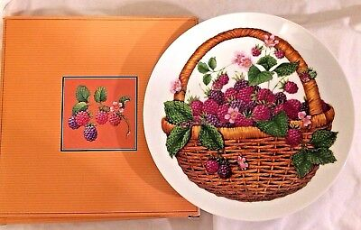 Vintage Avon Summer Fruit Collector's Plate 1985 Made in Japan NIB