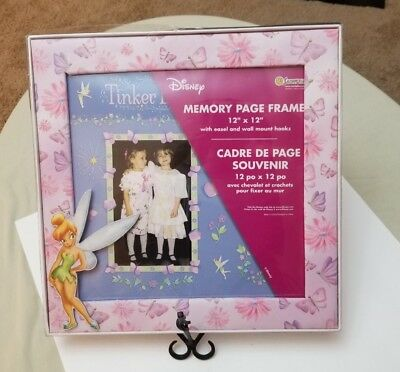 "NEW Disney Classic Tinker Bell Memory Page Frame 12"" X 12"""