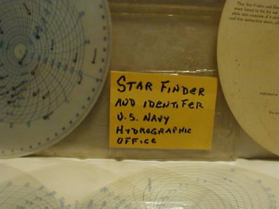 U.S. Navy Star Finder And Identifier Vintage 1961 Astronomy Sky Chart Map