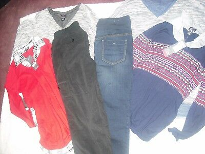 Womens Maternity NWT Lot 6 Pants Tops Size L Large Super Nice Retail 192.