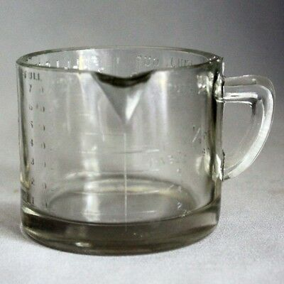 Vtg Old FEDERAL 1 CUP DRY MEASURE with SPOUT Measuring Cup Clear Glass