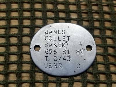 WWII USNR - United States Naval Reserve Dog Tag