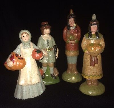 Teena Flanner for Bethany Lowe Thanksgiving Wampanoag/Pilgrim Figures
