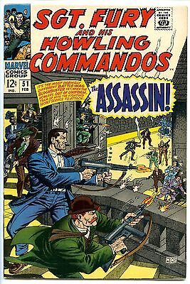 Sgt. Fury #'s 51, 94, 96, 98, 109 (1968-73) – Mid-Grade Copies – 5-Issue Lot