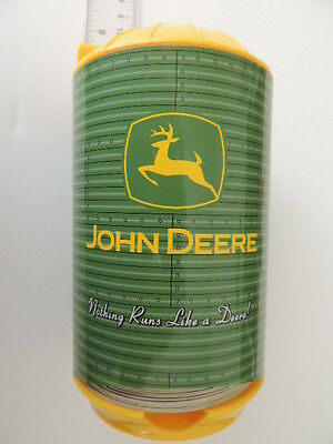 John Deere absorbent Coasters in Green & Yellow Silo shaped plastic dispenser