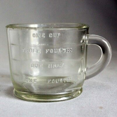 Vtg ADVERTISING SELLERS 1 CUP DRY MEASURE Measuring Clear Glass Patd Dec. 8, 25